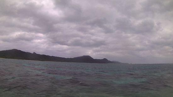 どんより雲ですが、シュノーケルは大丈夫です