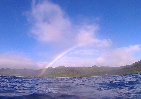 ツアー中も虹ですね!