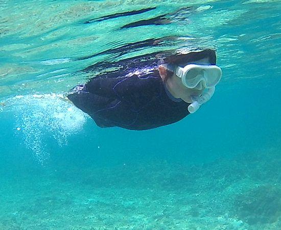 すいすい泳ぐヒロ君です。