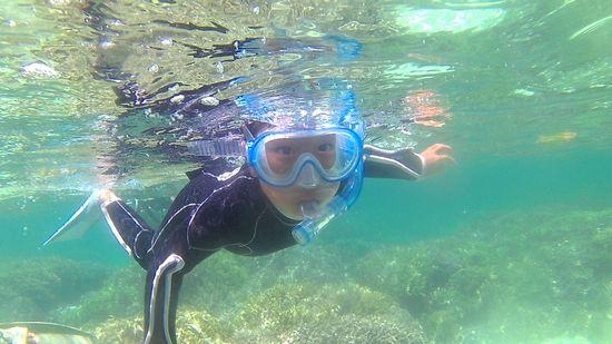 ジントク君、楽勝の泳ぎです。