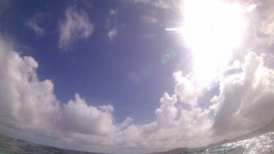 午後からは晴れています