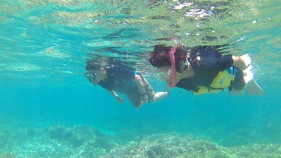 水中を楽しんでいらっしゃるO場さんご夫婦です。