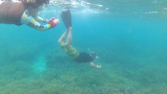 H田旦那さん、力強い泳ぎです