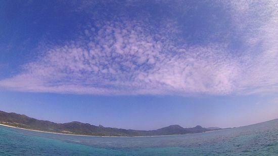 ほんのり秋空の石垣島です
