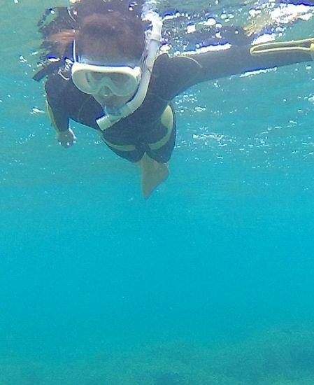 ヒナコちゃん!すいすい泳ぎます