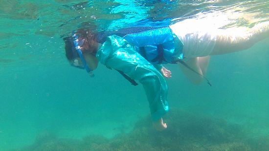 カナさんも余裕の泳ぎです♪