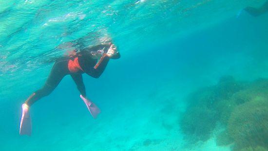 水中カメラを楽しんでいるO森さん