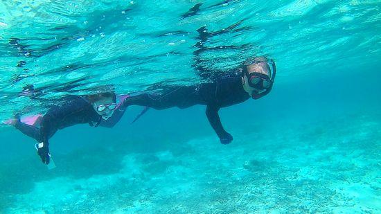 すいすい泳ぎ始めるO西さんとO本さんです。