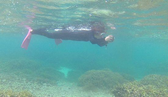 水中撮影を楽しむS田さん