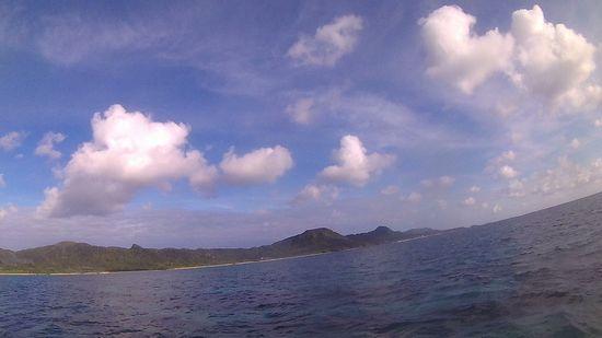 天気は晴れの石垣島です