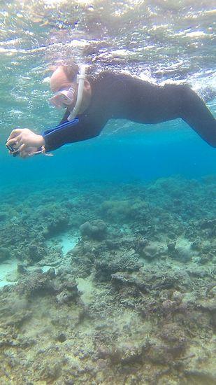 早速登場、水中カメラで撮影です