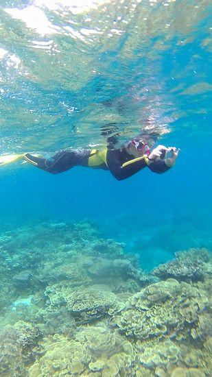 水中写真撮影、楽しんでいらっしゃいます