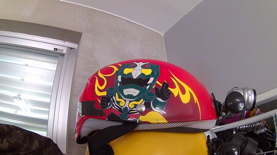 まぶやーのヘルメット