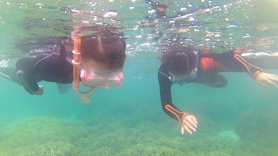 後半は、余裕の泳ぎのお二人です