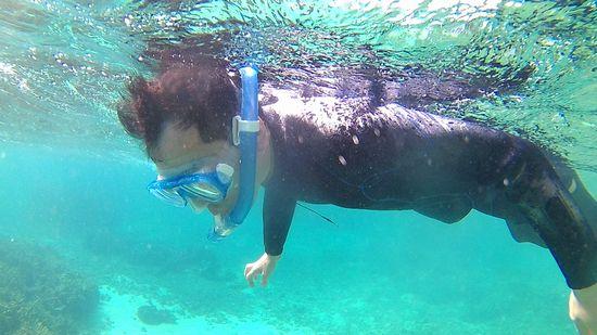 T中さんも大丈夫!海を楽しんでいます。