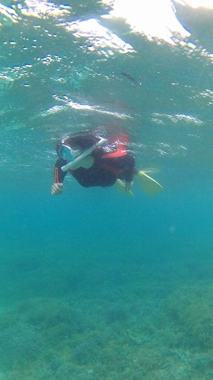 K原さんも楽勝の泳ぎです