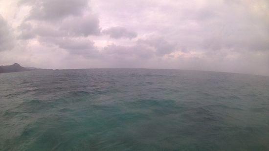 どんより雲。石垣島は曇りの天気です。