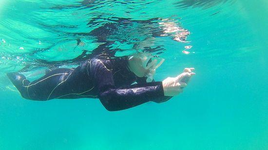 M本さんも水中撮影です