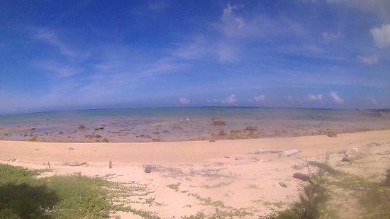 ど干潮時間にビーチへ