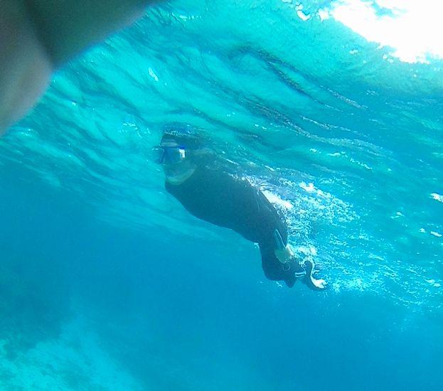 お兄さん、慣れれば、スムーズな泳ぎです