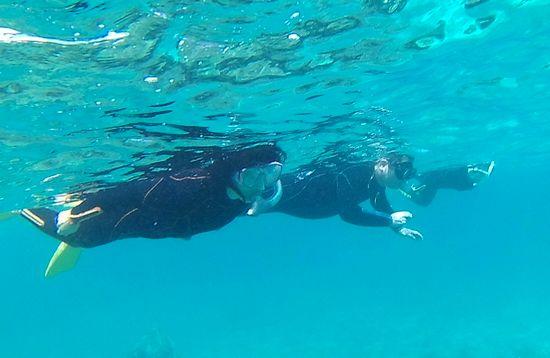 ドボンとエントリー!さぁ海を楽しみます