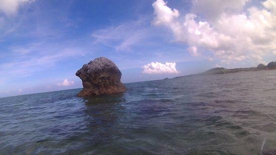目標はキノコ岩