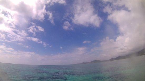 今日の天気は、晴れ時々曇りです
