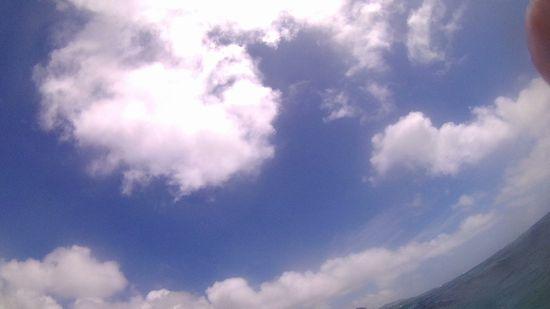 台風が近づいていても、天気は晴れです