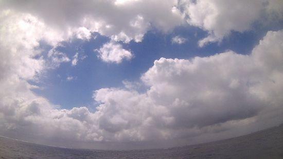 晴れたり曇ったりを繰り返しています。