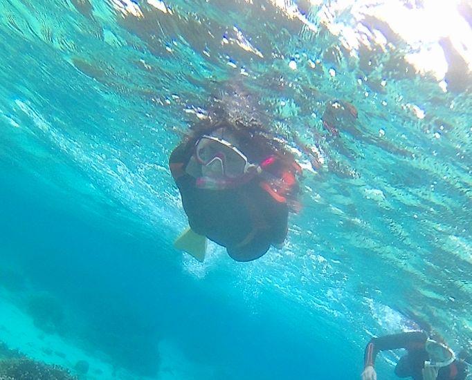 M木さん余裕の泳ぎでしたね