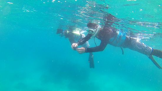 水中世界を満喫のI江さん