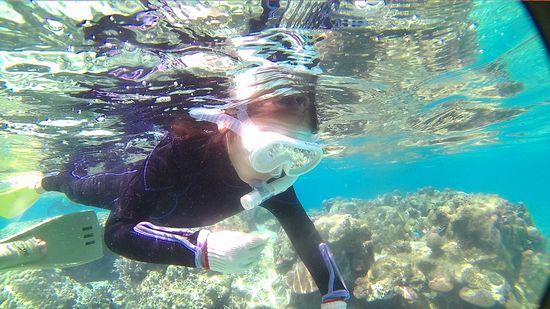 ヒナノちゃん、慣れれば、楽勝の泳ぎです