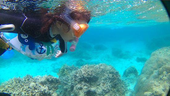 ヒヨリちゃん、こちらも海を楽しんでいます