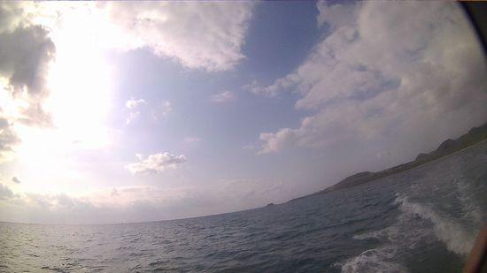 おだやな海に戻ってきました