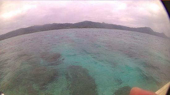 曇模様の石垣島です