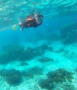 3月、石垣島の海は透明度抜群です。