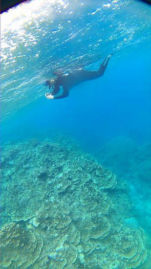 ズドーンと深い水深30mです