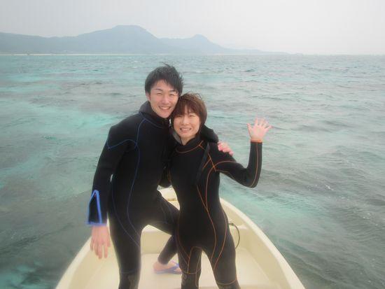 初めての石垣島旅行のH田さんとT尾さんです。
