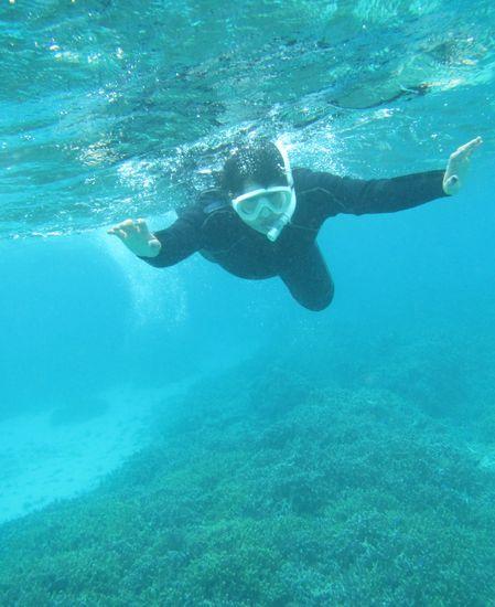 O川さん、余裕の泳ぎです。