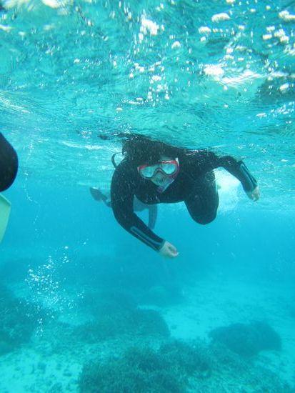 K藤さんも慣れた泳ぎです。