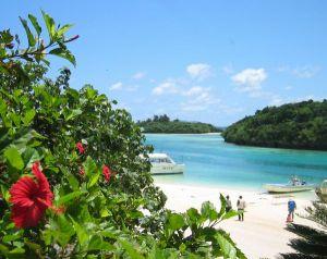 石垣島NO1の観光スポット、日本百景、川平湾です