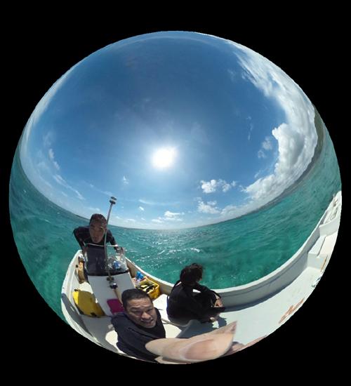 ボートの上からの写真がこんな感じになったり