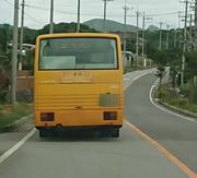 石垣島北部、三便しかないバスです