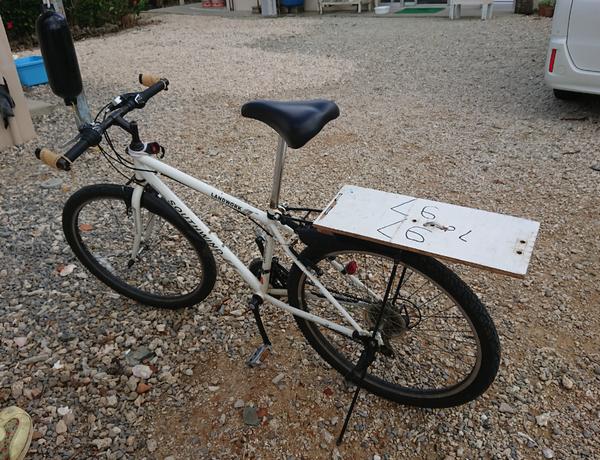 あっ!自転車のカゴが