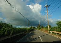 夏の石垣島、通り雨はよくあります。