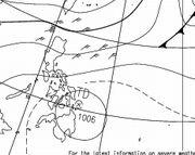 フィリピンに熱帯低気圧。石垣には影響はないと思います。