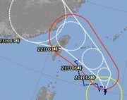 台風12号、石垣島を通過予定です。
