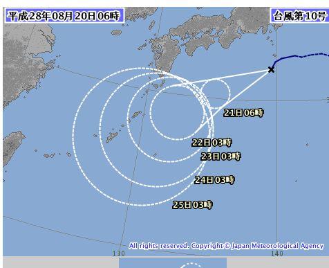 台風10号、ライオンロック