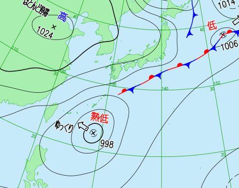 台風になりきらない熱帯低気圧