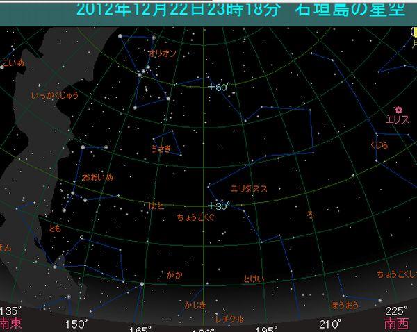 現在の石垣島の星座を表示できるフリーソフト